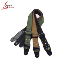 Buy 150cm Adjustable Straps Leather Ends Guitar Cotton Straps Belt Acoustic Folk Electric Bass Guitar for $5.62 in AliExpress store