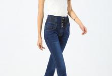 Plus size 26- 40 Fashion Jeans Womens Slim High Waist Elastic Skinny Denim Long Pencil Pants Woman Jeans Camisa 3 Colors(China (Mainland))