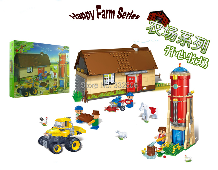 Hot Toy Chilren Banbao Building Blocks Happy Farm Assembling Compatible Bricks Gift - C&T Toys store