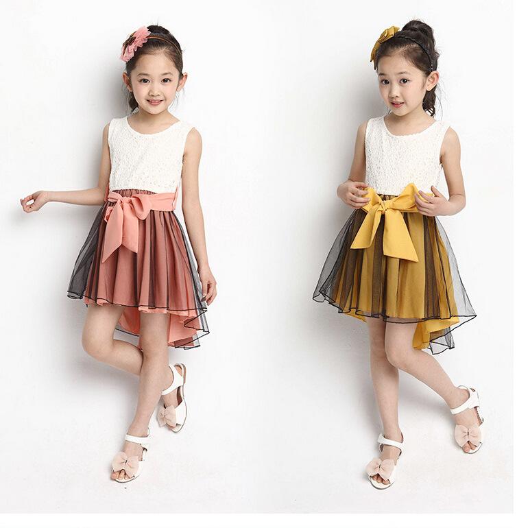 2015 New Arrival Korean Fashion Cute Girls Dress