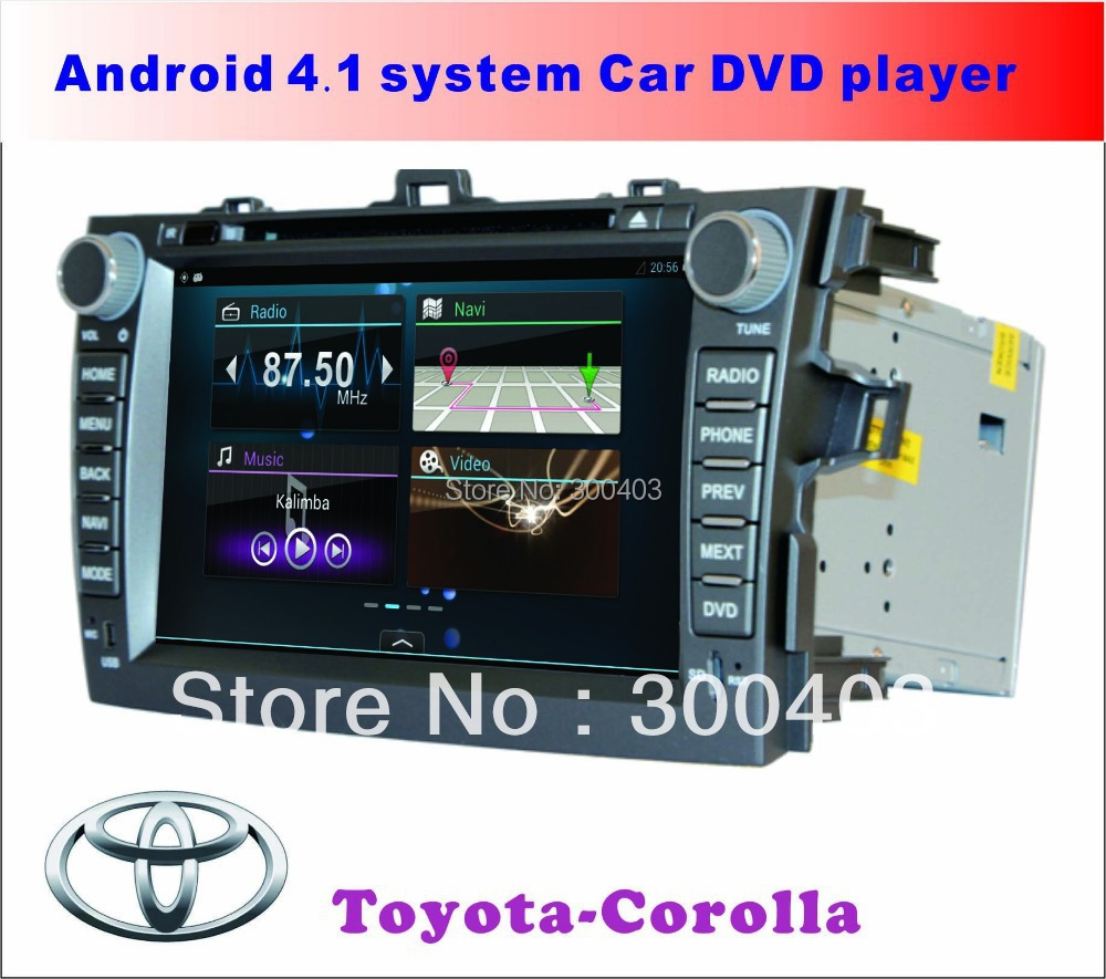 "For TOYOTA COROLLA Capacitive screen 8"" Pure Android 4.2 Car AUTO PC DVD PLAYER GPS,DDR3 1G,8GB,3G WIFI TV,HOT best gifts!(China (Mainland))"