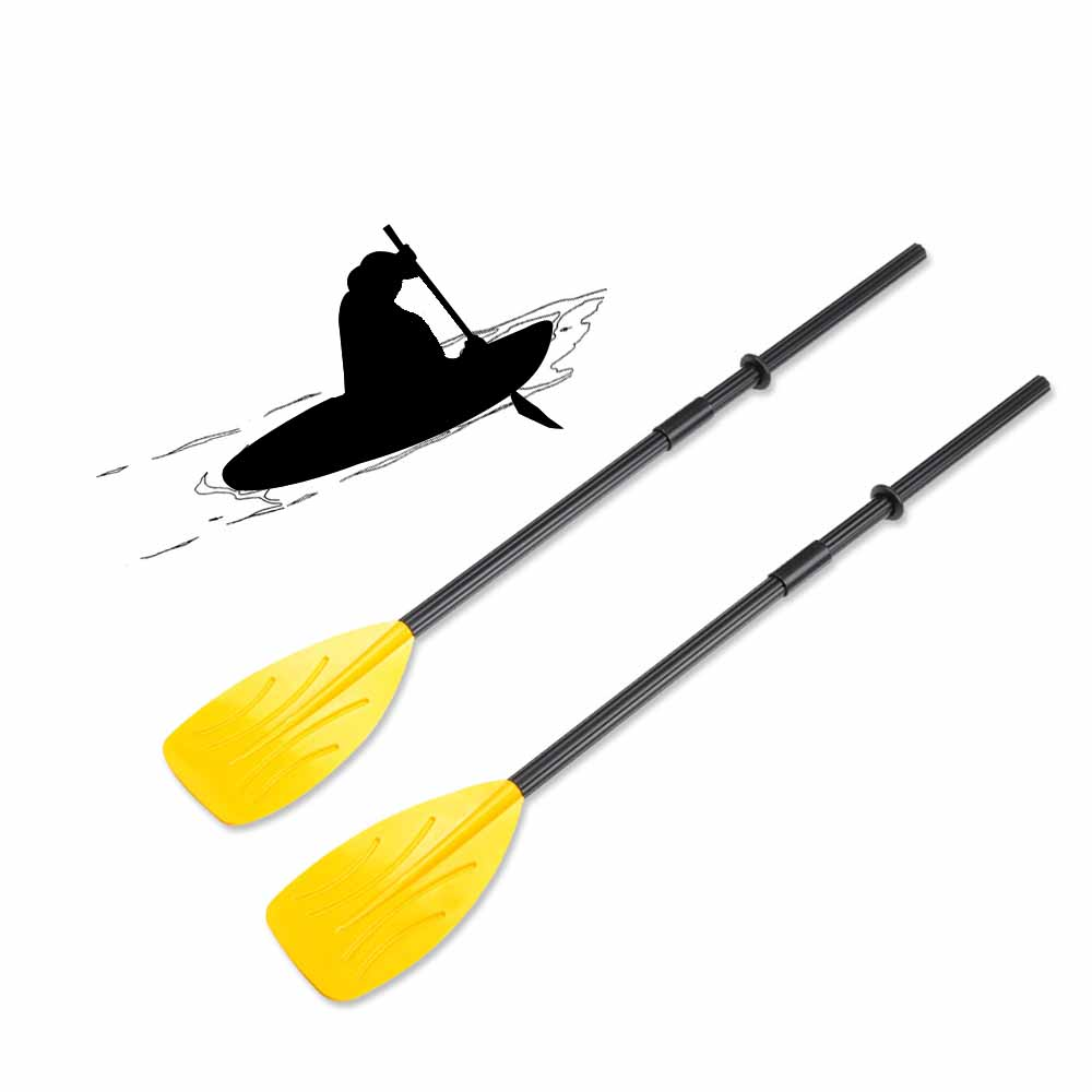 1Pair Rowing Boats Paddles + Split 4 Pieces Shaft 2 Connectors 2 Rubber Rings For Fishing Boat Inflatable Boat Kayak Paddle(China (Mainland))