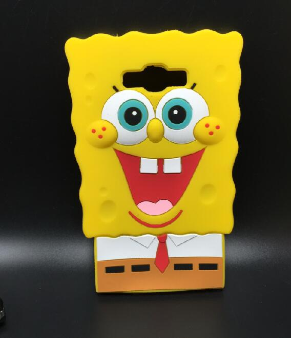 3D Cartoon SpongeBob Soft Silicone Back Case Cover Samsung Galaxy A7 A700 E7 E700 J7 J700  -  ALEX ZHOU Store store