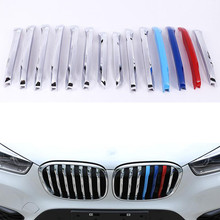 Buy 14pcs/set Auto Car 3 Color Front Grill Grille Cover Trim Moulding Strip Styling Sticker 2016 BMW X1 Exterior Accessories for $54.77 in AliExpress store