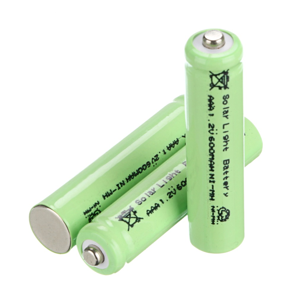 environmental solar battery! 4 PCS AAA Solar Light Batteries Rechargeable 1.2V 600mAh For Garden Lights(China (Mainland))