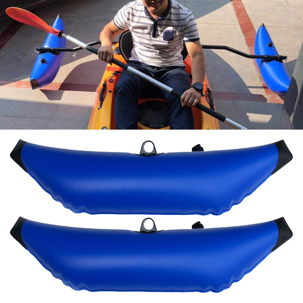 1 Pair Durable PVC Inflatable Stabilizer Kayak Canoe Fishing   Accessories