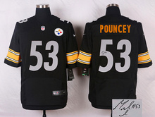 ALL Style Signature ! New arrival,Pittsburgh Steelers 53 Maurkice Pouncey 56 woodley 58 Jack Lambert 63 Dermontti Dawson(China (Mainland))