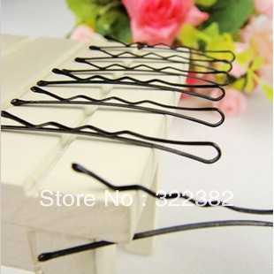 Wholesale 300pcs/lot Good Black plated thin U shape hair bobby pin Black metal bangs clips Princess girls hair barrettes Big 6cm(China (Mainland))