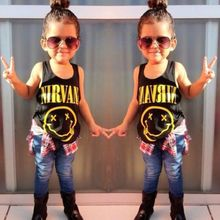 Buy 2016 New Fashion Baby Girls Kids Summer Smile Printing Cotton Vest Sleeveless T-Shirt UK for $2.80 in AliExpress store