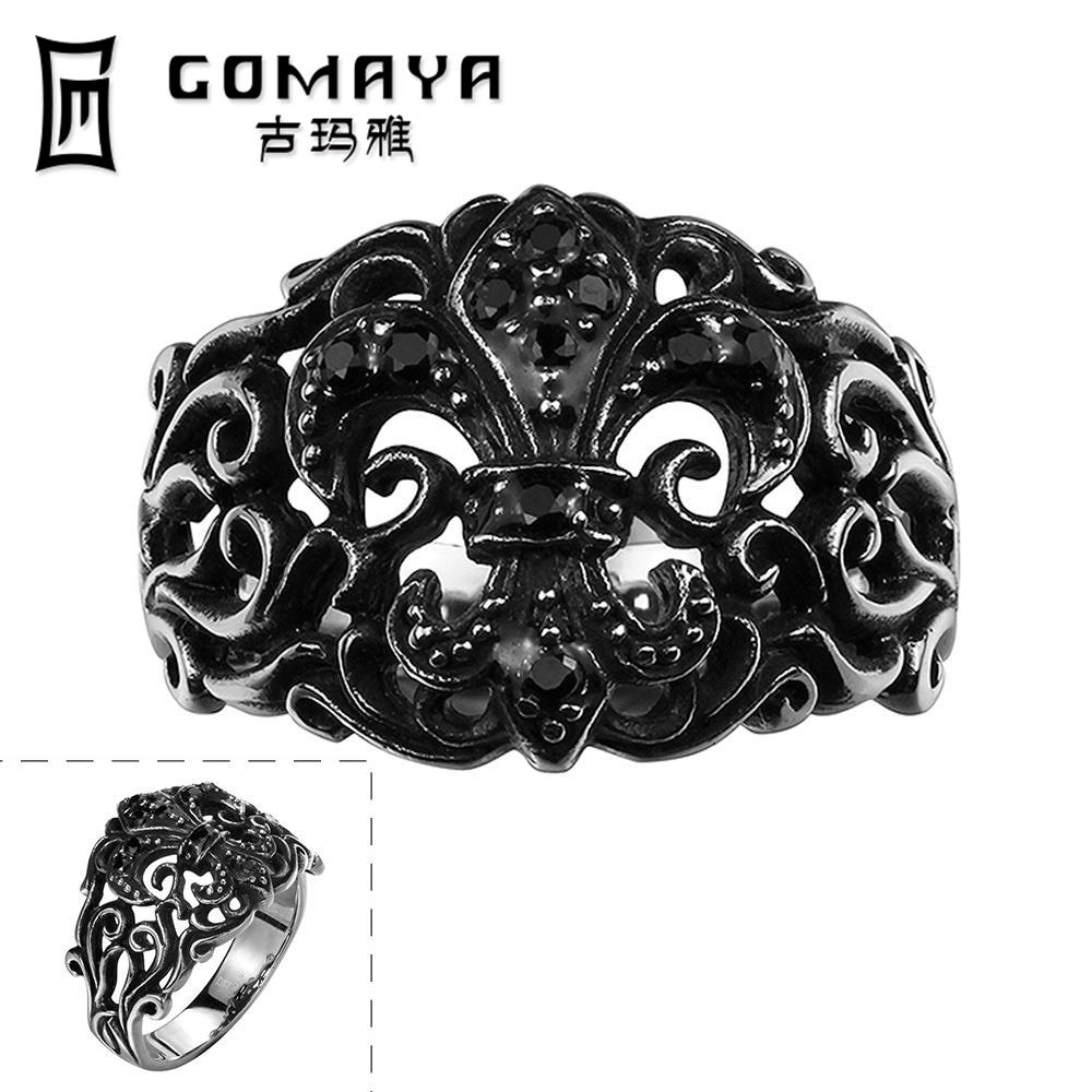 R130-8 New Fashion Cool Personality Game Ancient flowers Jewelry Stainless Punk Ring Python Cubic Zirconina Cosplay Rings(China (Mainland))