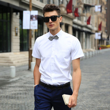 Buy 11 Solid Colors 2017 Short Sleeve Shirt Men Business Mens Dress Shirt Casual Formal Mens Shirts Brand Clothing Chemise Homme for $12.93 in AliExpress store