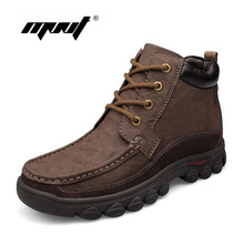 Buy Handmade men boots genuine leather snow boots comfortable super warm winter shoes plus fur large size waterproof ankle boots for $43.07 in AliExpress store
