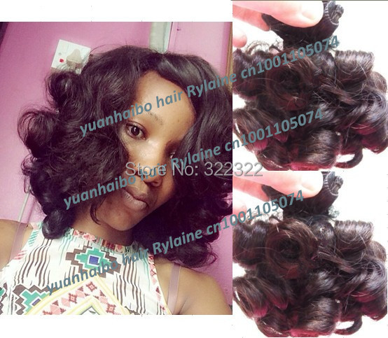 Best 6a quality 3pcs/lot 1b# peruvian bouncy curl 100% virgin aunty funmi haman hair weaves for black women free shipping<br><br>Aliexpress