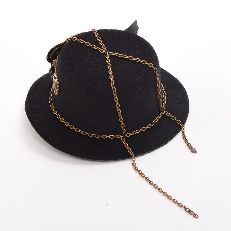 Retro Victorian Steampunk Mini Top Hat