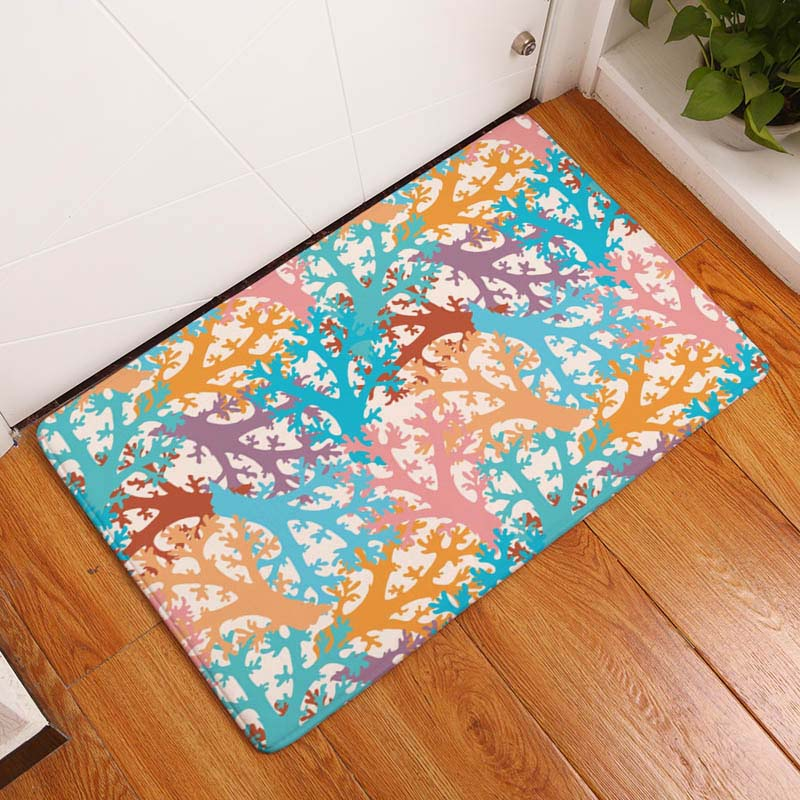 3723fd03879a Coral Printing Flannel Carpet Hippocampus Pattern Mat For Living Room  40x60cm Door mat Rectangle Tapete - us898