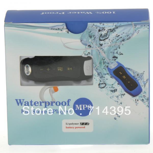 Newest 4GB Water Resistance IPX8 MP3 Waterproof Sport MP3 Player FM Bottle Shape Free Shipping-Black