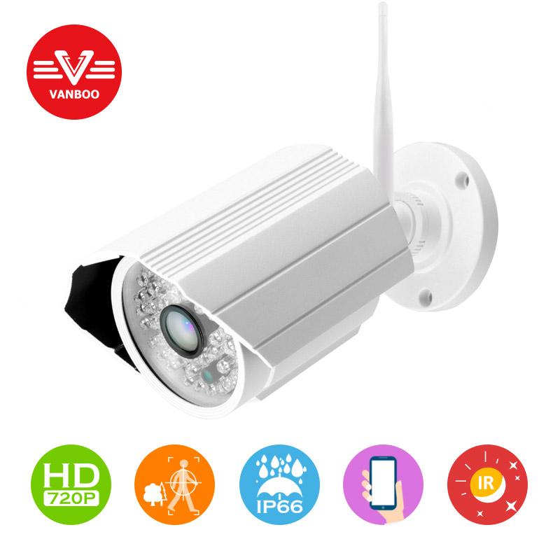 Onvif IP camera WIFI Megapixel 1.0MP 1280 * 720p HD Outdoor Wireless Security CCTV IP Cam IR Infrared P2P Bullet Kamera(China (Mainland))