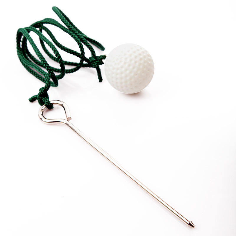 1pcs Sport Golf Plastic Practise Ball Putting Green Training Balls with Steel Rope Golf Training Aids(China (Mainland))