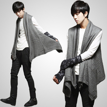 2014 Autumn And Winter Vest Male Sleeveless Sweater Cardigan When The Scarf(China (Mainland))