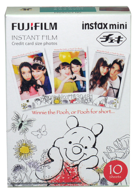 Fuji Fujifilm Instax Mini Film For Winnie the Pooh 10pcs Instant Photos Mini Camera 7s 8 25 50s 90 SP1(Hong Kong)