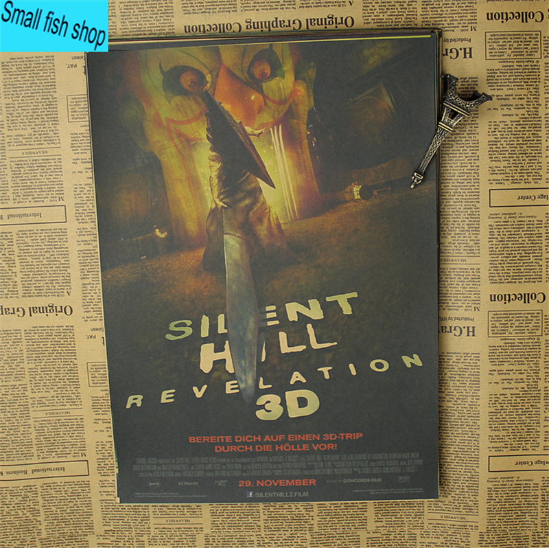 Silent Hill Terror religion Home Furnishing decoration Kraft Movie retro Poster Drawing core Wall stickers