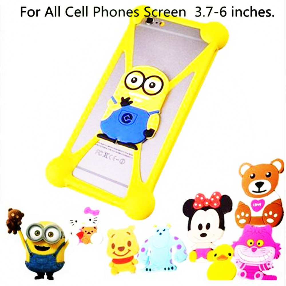 New Cartoon Ring Stand Holder Soft Silicone Case For Prestigio MultiPhone 3459 DUO Cell Phone 3.7 - 5.5 Inch Hello Kitty Cover(China (Mainland))
