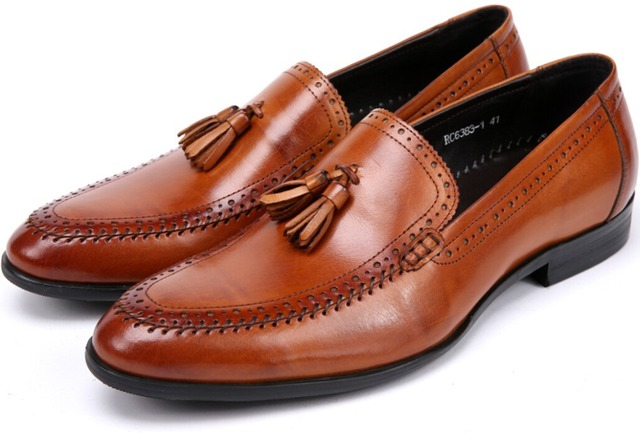 Модные мужские мокасины обувь повседневная бизнес обувь коричневый/красно-коричневый/черный ...