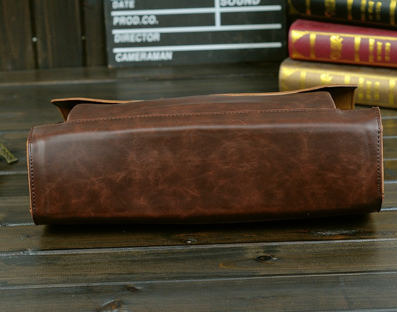 Vintage Men Business Faux PU Leather Briefcase Male Travel Causal Messenger Shoulder Portfolio Laptop Bags Lawer Handbag Bolsa (15)