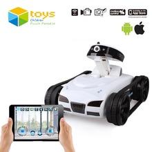 Mini RC Tank APP Gesteuert Wireless Spy Tank I-SPY Fernbedienung Roboter mit Kamera Wifi Gesteuert Monitoring Vehicle iOS Geschenk(China (Mainland))