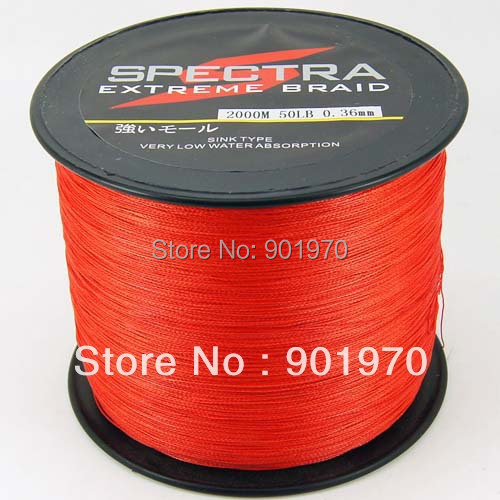 Super fishing 4 strands braided line 2000m 50lb red  freeshipping<br><br>Aliexpress