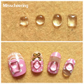 100pcs pack New Arrive Crystal Clear Magnifier 3d Nail Art Decorations Round Oval Square Shape Flat