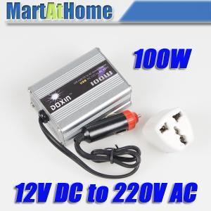 NEW 100W POWER INVERTER DC 12V to AC 220V USB for Mobile Car TV DC #10187 @CF