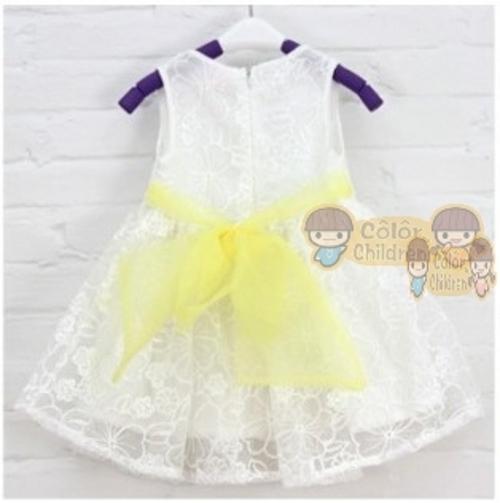 Бесплатная доставка 2015 девочки день рождения малышей платья девушки платья принцесс большой бантом детское платье на лето