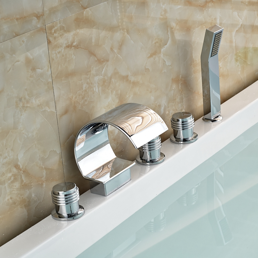 Buy Solid Brass Chrome Brass Widespread Bathroom Faucet W H