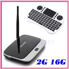 CS918 RK3188 Quad Core Android 4.4.2 TV Box ARM Cortex-A9 AV Port 2GB RAM 16GB ROM HDMI XBMC + Rii i8 fly air mouse keyboard(China (Mainland))