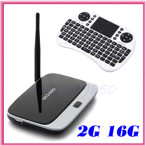 CS918 RK3188 Quad Core Android 4.4.4 TV Box ARM Cortex-A9 AV Port 2GB RAM 16GB ROM HDMI XBMC + Rii i8 fly air mouse keyboard(China (Mainland))