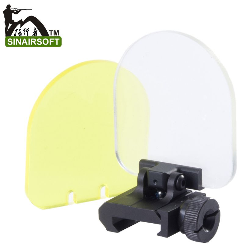 Sinairsoft New bulletproof lens protector folding for airsoft  551 552 553 556 557 scope red green dot sight Black hunting<br><br>Aliexpress