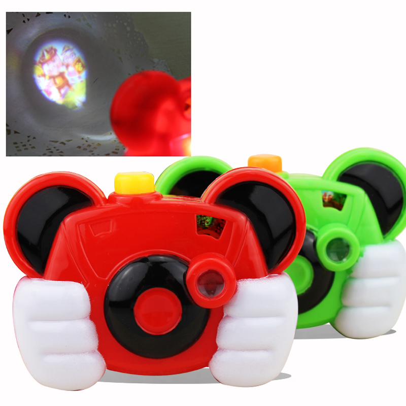 Baby Study Toy Kids Projection Camera Educational Toys for Children camera kids camera Christmas gift random colors(China (Mainland))