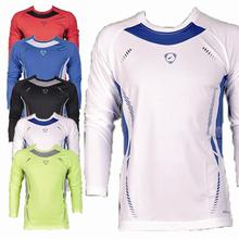 New Fashion Sport Compression Mens Fitness T Shirts Long Sleeve Fitness & Exercise Cycling Sportswear Tops Tee Sweatshirt