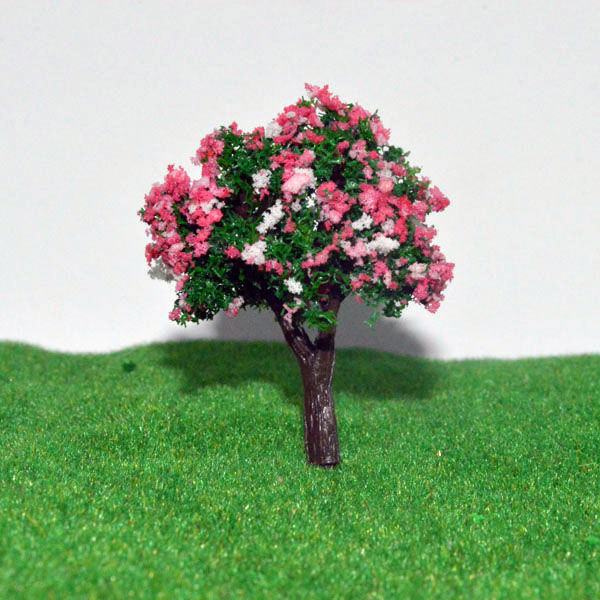 6cm Scale model flower tree for model train railroad scenery accessory trees model(China (Mainland))