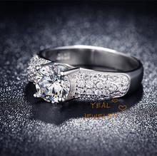 Bague femme $1.8 Wedding Rings For Feminino Sterling Silver Imitation Diamond Jewelry Free Shipping Sz6-Sz9 MSR024