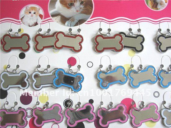 Free shipping!Wholesale 96pcs/lot fashion stainless steel pet tag, Pet ID tag,