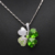 promotion factory hotsell Austrian Crystal four Leaf Leaves Clover heart rhinestones necklace pendant jewelry 9554