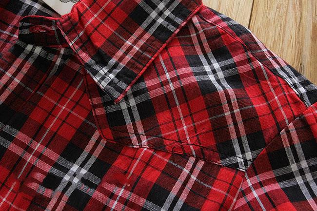 2017 Kids Spring Autumn Cotton Classic British Plaid Shirts Baby Boys Girls London Style Checkered Shirt Bottom Wear Blouse