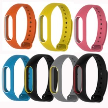 Newest Replace Strap for Xiaomi Mi Band 2 MiBand 2 Silicone Wristbands Colorful Double Color Smart Bracelet for Xiomi Mi Band 2(China (Mainland))