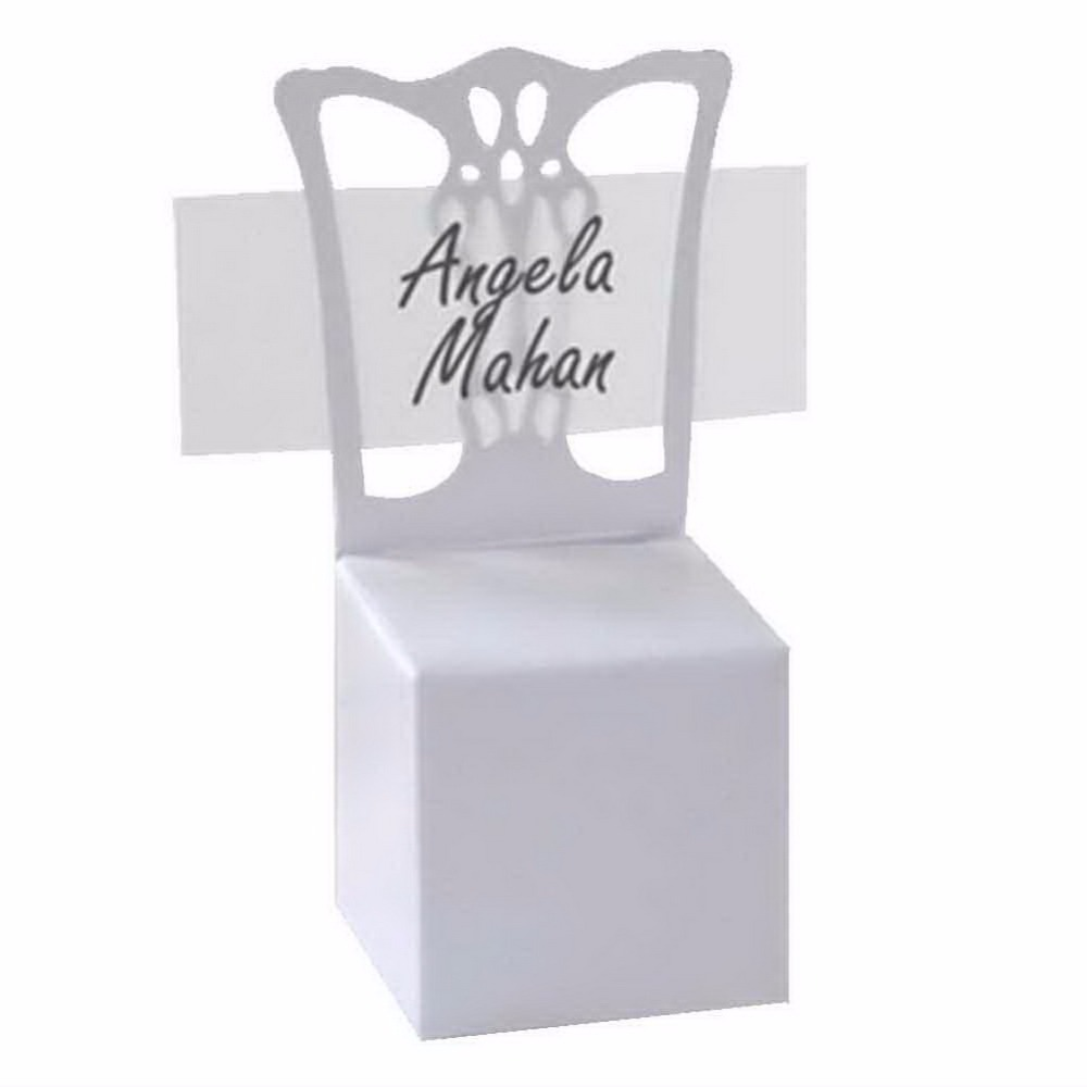buy 12pcs lots chair place card holder and favor box best for candy boxes and. Black Bedroom Furniture Sets. Home Design Ideas
