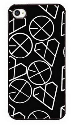 Kpop EXO White My Heart Logo Custom Make Hard Plastic Case for Iphone 4/4s 5c 5/5s 6/6s 6/6s plus Back Hardshell Snap On(China (Mainland))