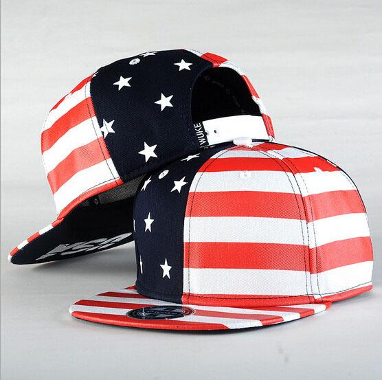 2015 American Flag Print Women Baseball Caps Star Stripe Patchwork Men Snapback Cap Unisex Hats Adjustable C052 - New Cover Co.,Ltd. store