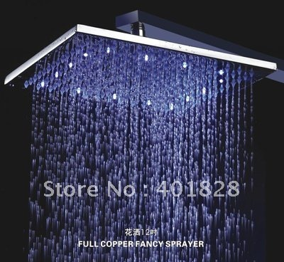 12 Inch LED Brass Shower Head - Free Shipping(L-4209)