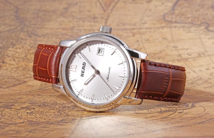 ЧИТАТЬ люксовый бренд мужская механические часы полный стали Мужчины бизнес водонепроницаемые часы relogio мужской 8001 Бесплатная доставка